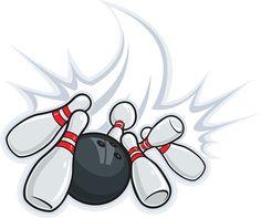 Cartoon image of bowling ball and bowling pins davidnay
