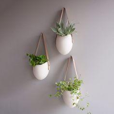 Porcelain Planters Set Of 3