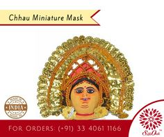 The Chhau Miniature Mask can be a fantastic artistic piece in your living room. #handicraft #IndianHandicraft #MadeinIndia