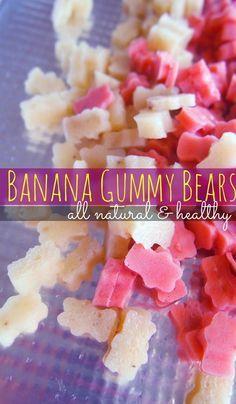 Make gummy bears from bananas!