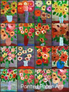 Art Projects for Kids | Art Lesson Plans | Crafts for Kids |  Monet Art Lessons | Painted Paper Art