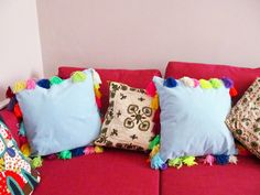 diy tassel cushion - Google Search