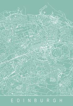 EDINBURGH MAP PRINT Customizable City Map by EncoreDesignStudios