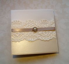 Lace wedding invitation - from my 'Coffee with Cream' collection! www.quilsweddingstationery.co.uk https://www.facebook.com/pages/Quills-Wedding-Stationery/278003989009997