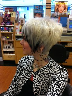 This is exactly the haircut style I'm going for!!! Not the color though :0)
