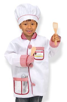 Made using the highest quality materials Tested to be safe and durable Great fun for your baby and child Chef costume with red-gingham accents and realistic accessories High-quality fabrics and constr