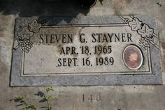 Steven Stayner (1965 - 1989) California man who was kidnapped as a boy at the age of 7 and lived with his kidnapper for seven years before escaping and being returned to his family, died later in a motorcycle wreck