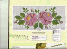 Lu výšivky kút a kuchyňa: CROSS POINT (ruží)