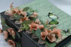"TPHH , Premade Large Mini Album entitled   "" French Gardens ""  by Darde #Handmade"
