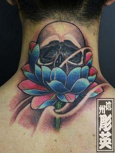 スカルタトゥー/刺青デザイン画像