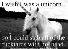 I wish I was a unicorn.