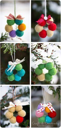 tiny felt ball crafts - Google Search