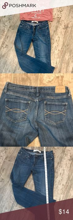 ABERCROMBIE Madison perfect stretch jeans 4S Like new Abercrombie boot cut jeans - Madison perfect stretch. Size 4S, measurements in the pictures.  All items I lost are from my personal closet.   BUNDLE 3 or more items for 20% discount💜Smoke free home💜No trades💜No offline transactions or modeling💜 🌸💜Have a blessed day!!💜🌸 Abercrombie & Fitch Jeans Boot Cut