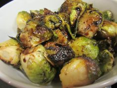 Balsamic Glazed Brussel Sprouts – Bake Broil and Blog