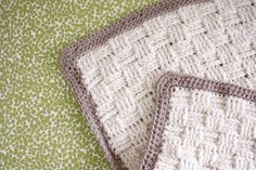 Nesting: Basket Weave Crochet Baby Blanket    Maybe one day i'll learn how to crochet so I can make this.