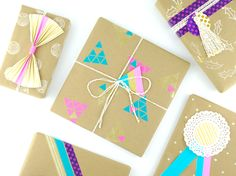 Omiyage Blogs: 5 Ways To Wrap A Book (or anything else) - #3 Wrap It Geometric