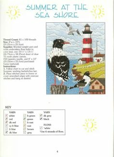 LOVELY SEASONS IN LONG STITCH * SUMMER AT THE SEA SHORE 1/2 by CONN BAKER GIBNEY 4/9