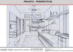 Projeto - Perspectiva conjugado para aluguel - Estudos Preliminares - arquiteto André Tiani