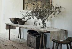 Swedish stylist Hans Blomquist. Always incredible rustic settings.