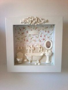 Diy Crafts Hacks, Diy And Crafts, Baby Crafts, Home Crafts, Picture Boxes, Polymer Clay Crafts, Box Frames, Creative Crafts, Decoration