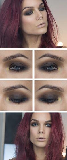 Jag har använt/I've used NYX HD eyeshadow base MAC Eyeshadow quad Maleficent MAC Eyeshadow Uninterrupted...