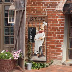 Sunjoy Friendly Bistro Chef 37.5 Inch Hand Painted Metal Wall Decor, Multi,  Outdoor Décor