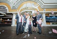 just married outside the Golden Nugget #Vegas