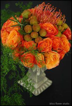 orange rose centerpieces