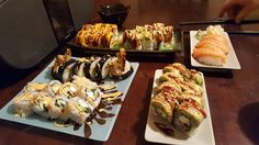 [Homemade] Sushi galore! #food #foodporn #recipe #cooking #recipes #foodie #healthy #cook #health #yummy #delicious