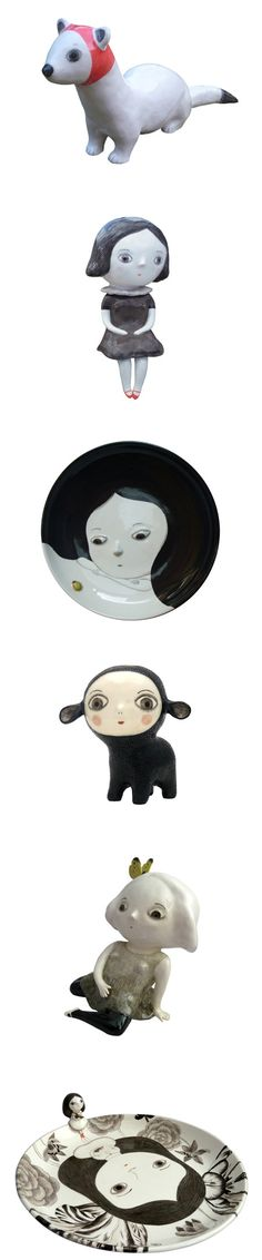 beautiful, whimsical and slightly dark ceramics of Natalie Choux
