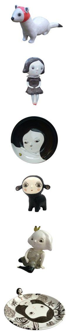 beautiful, whimsical and slightly dark ceramics of Natalie Choux