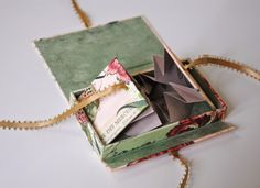 Folded Book Inside a Box, makes me think………….what about a folded book inside a book????