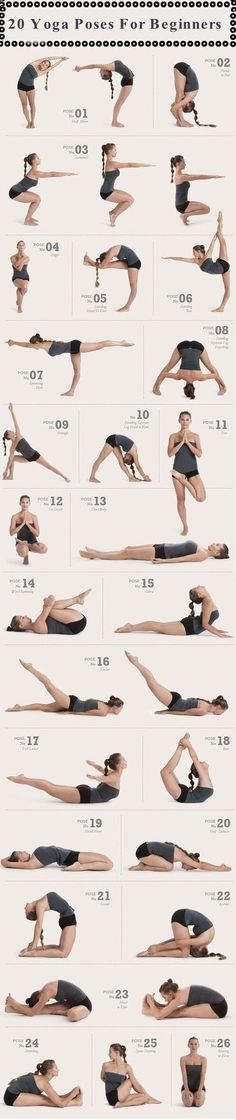 Easy Yoga Workout - 20 Yoga Poses For Beginners Pictures, Photos, and Images for Facebook, Tumblr, Pinterest, and Twitter Get your sexiest body ever without,crunches,cardio,or ever setting foot in a gym