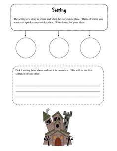 writing a scary story graphic organizer