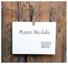 will you save the date?