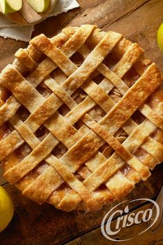 Sugared and cinnamon-spiced pears give this homemade apple pie recipe a little something extra, without a lot of extra prep. #CreativeClassics #Crisco [Promotional Pin]