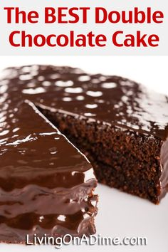 This double chocolate cake recipe is one of the very best chocolate cake recipes! It is an ingenious adaptation from the 1940's that makes the most delicious cake! Definitely for the chocolate lover in your family!