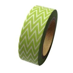 Amazon.com: Dress My Cupcake DMC41WT1113 Washi Decorative Tape for Gifts and Favors, Classic Kiwi Green Chevron: Arts, Crafts & Sewing