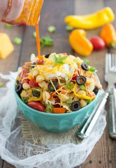 pasta salad with taco flaovors