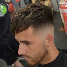 Haircuts for Balding Men - High Skin Fade with Fringe Mens Hairstyles Fade, Cool Hairstyles For Men, Mens Hair Fade, Modern Hairstyles, Undercut Hairstyles, Medium Hairstyles, Wedding Hairstyles, Mens Fringe Haircut, Fade Haircut