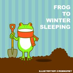 カエル 冬眠 frog hibernation