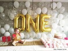 1 Gold Number Balloon 34 Mylar Foil Alphabet by thepaperkit Mylar Letter Balloons, Gold Number Balloons, Foil Balloons, Baby First Birthday, First Birthday Parties, First Birthdays, Happy Birthday, Golden Birthday, Unicorn Birthday