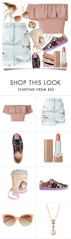 """""""ruffled top"""" by teto000 ❤ liked on Polyvore featuring Miss Selfridge, Versus, Gucci, Marc Jacobs, Betsey Johnson, Linda Farrow, LE VIAN, skirt, top and gucci"""