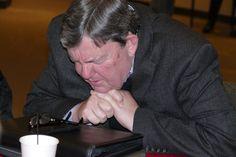 Doug Small praying. Dallas