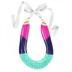 Color Block Multistrand Necklace