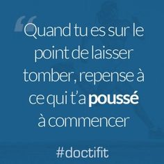Citation sport motivation : Quand tu es sur le point de laisser tomber, repense à ce qui t'a poussé à commencer | Citations sport, Phrases de motivation, Citation sportive Sport Motivation, Phrase Motivation, Motivation Regime, Fitness Motivation Quotes, Weight Loss Motivation, Citations Sport, Citations Zen, Encouragement, Motivational Quotes