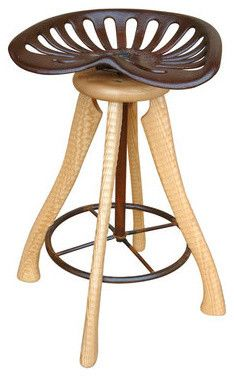 Exceptional Tractor Seat Stool By Bradford Woodworking Bar Stools And Counter Stools