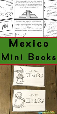 Kids will be fascinated as they learn about the country of Mexico with these free printable Mexico for Kids books. Included are pictures to color and information about the culture, way of life and interests. These are a fanatic resource for kindergarteners, grade 1, grade 2, grade 3, and grade 4 students. Preschool Books, Kindergarten Activities, Teaching Kids, Kids Learning, Mexico For Kids, Mexico Country, Geography For Kids, Lessons For Kids, Worksheets For Kids