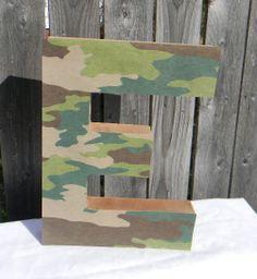 paper mache letters 12 inch custom paper mache letter camo or tree print