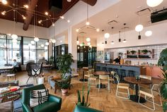 Look inside WeWork's expansive Detroit coworking offices - Curbed Detroit We Work Office, Cool Office Space, Office Lounge, Office Space Design, Workspace Design, Office Workspace, Office Interior Design, Office Interiors, Home Interior